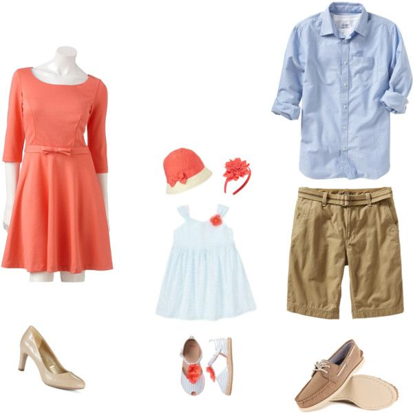 """""""Coral Beach Family Photo"""" by krystenbl on Polyvore"""