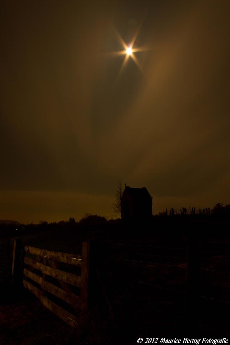 Full moon over the chapell of Eys  Photo © Maurice Hertog Fotografie