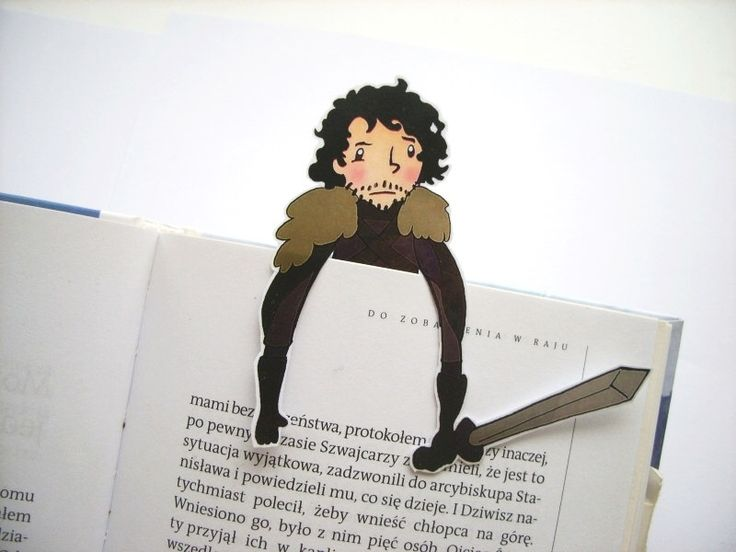 Jon Snow bookmark - Game of thrones, night watch Stark hbo tv show birthday gift for him gift for her by BigNerdWolf on Etsy https://www.etsy.com/listing/219738820/jon-snow-bookmark-game-of-thrones-night