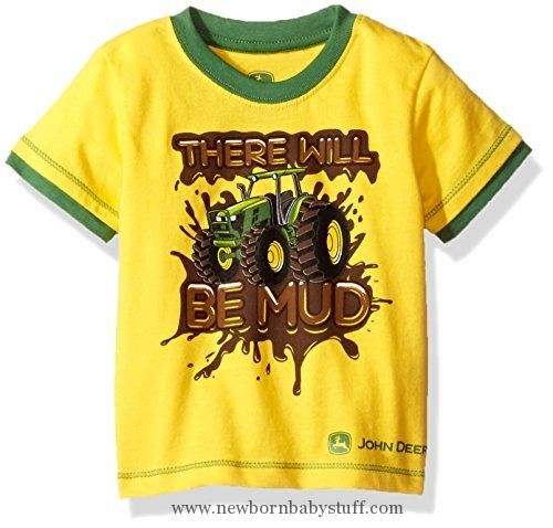 Baby Boy Clothes John Deere Baby Toddler Boys' Graphic Tee, Yellow/Green Print, 2T