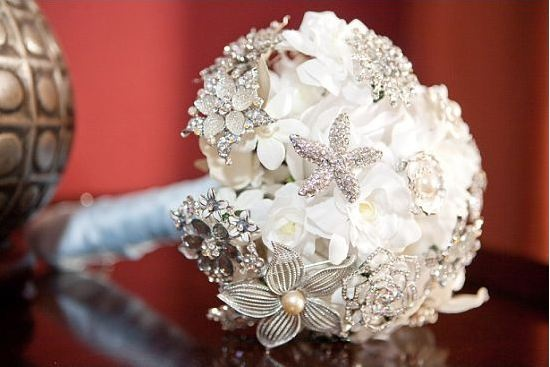 My brooch bouquet. Fun to make and turned out great!: Brooch Bouquets, Brooches Bouquets