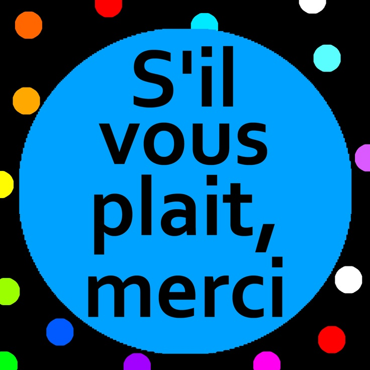 Sing along and learn Manners with the S'il vous plait, merci song with song lyrics. (maternelle)