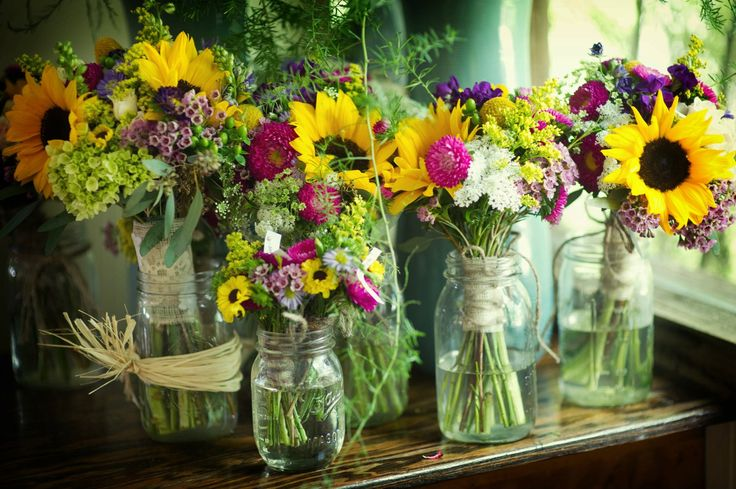 Wildflower Wedding Bouquets -- By Colleyville Florist at Willow Lake Gardens in Weatherford, Tx