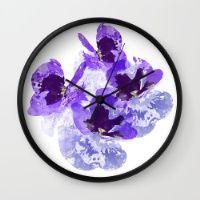 Blue Velvet Wall Clock