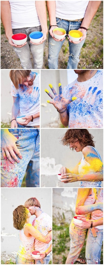 Paint fight engagement shoot.. i like this as much as the other one similar to it. i really want to do something like it