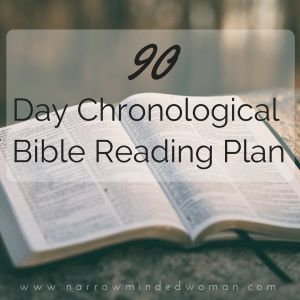 90 Day Chronological Bible Reading Plan