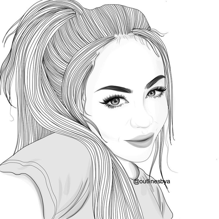 502 best outlines images on pinterest girl drawings for How to draw tumblr drawings