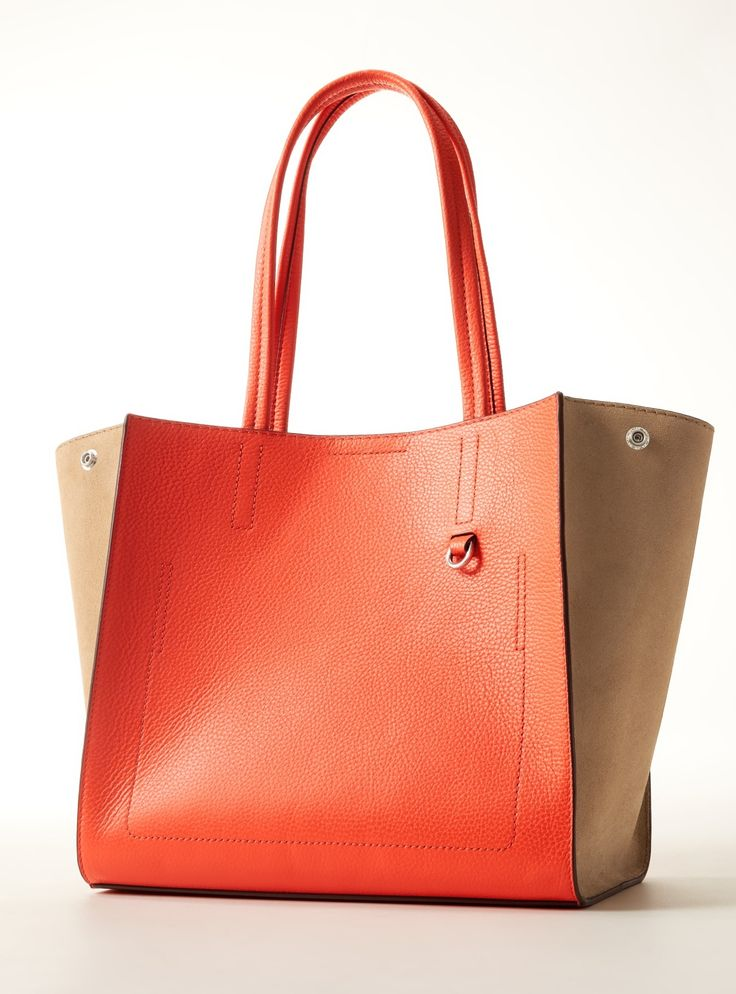 Our Italian leather tote is a timeless must have that will easily complete anyone's look | Banana Republic