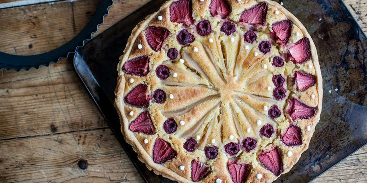 The Galvin brothers share their recipe for a summery frangipane tart, using pears, strawberries and raspberries to create an eye-catching dessert.