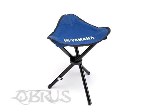 Yamaha Stool Light and compact design. Three legged stool in Yamaha Racing Blue Printed Yamaha logo Foldable with shoulder strap Handy to use at the track, around the BBQ or on your adventures! £12.58 inc vat. All available to order from QBRUS 01621 893227