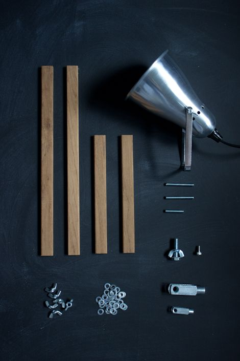 DIY industrial style wooden table lamps parts