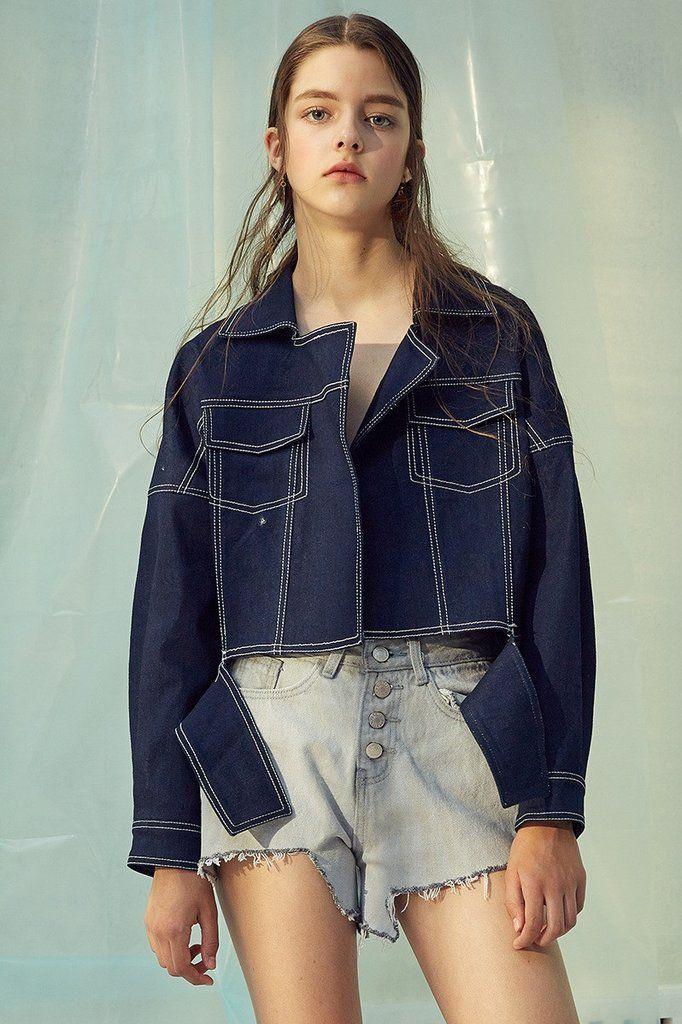 Oversized Crop Denim Jacket