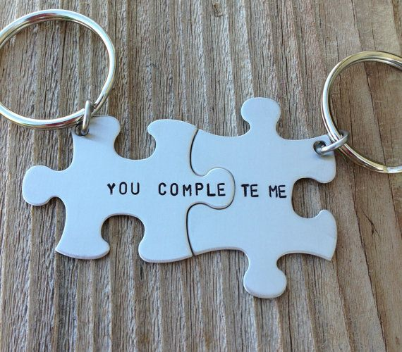 puzzle piece key chains his and hers you complete me gift for him gift for her on Etsy, $26.46 AUD