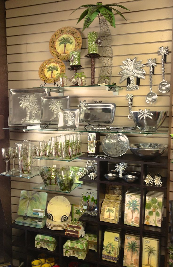 Our Recently Expanded Selection Of Palm Tree Motif Home Decor Items.  Available At Memento Gift