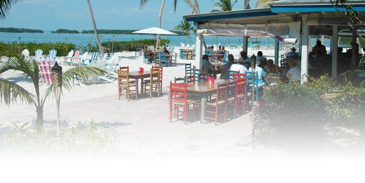 Islamorada, Morada Bay Beach Cafe Eat at table on the sand!!!! Looks awesome