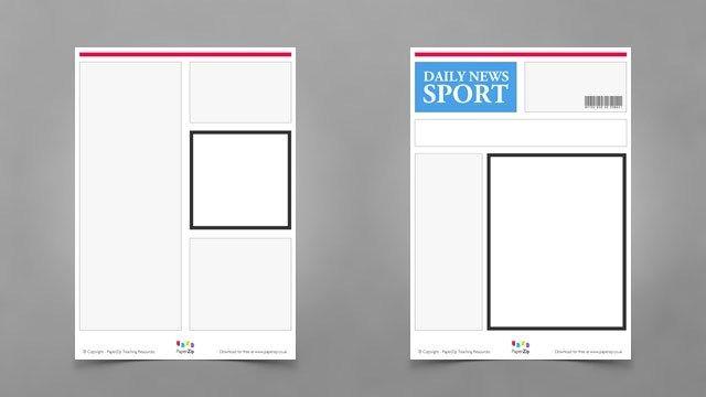Blank Newspaper Templates Newspaper Template Blank Newspaper