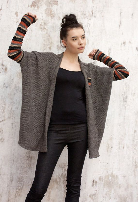 Womens cardigan sweater / Oversize cardigan by ExlibrisClothing