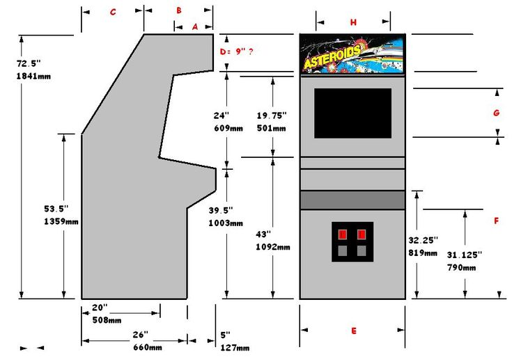Arcade Cabinet Dimensions - WoodWorking Projects & Plans