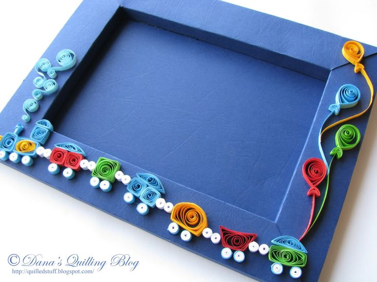 Quilled cardboard photo frame - would make a great, personalised birthday card with a photo or stamped message in the middle.