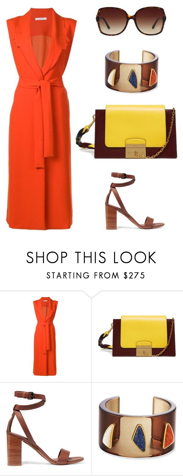 """Сафари"" by shkolashopinga ❤ liked on Polyvore featuring VIVETTA, Mulberry, Vince, Lizzie Fortunato and Bulgari"