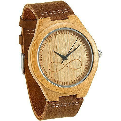 Bamboo Wooden Watches Men Women Gifts Modern Leather Bracelet Strap High Quality #BambooWoodenWatches