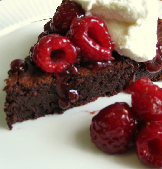 ... flourless, sugarless chocolate cake (I would use dark chocolate, 70%