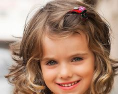 Cute Hairstyles For Little Girls with Wavy Hair