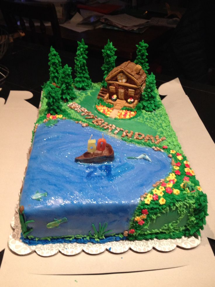 Cabin on the Lake Cake By Renee' Brown