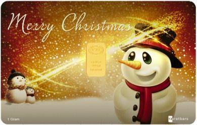 Merry Christmas 1 gram gold card