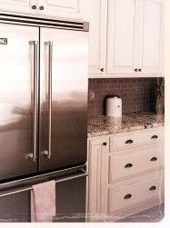 Kitchen remodel: farm style with granite & glass tile backsplash. 10 DIY Projects for your new year's resolution list