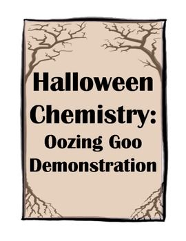 FREE Halloween Science Demonstration! This is fun for EVERY SINGLE classroom!