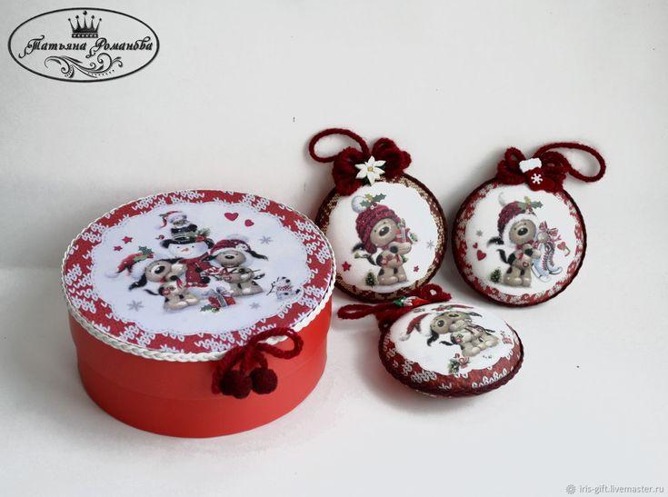 """Купить Набор новогодних игрушек""""Теплый праздник"""" в интернет магазине на Ярмарке Мастеров"""