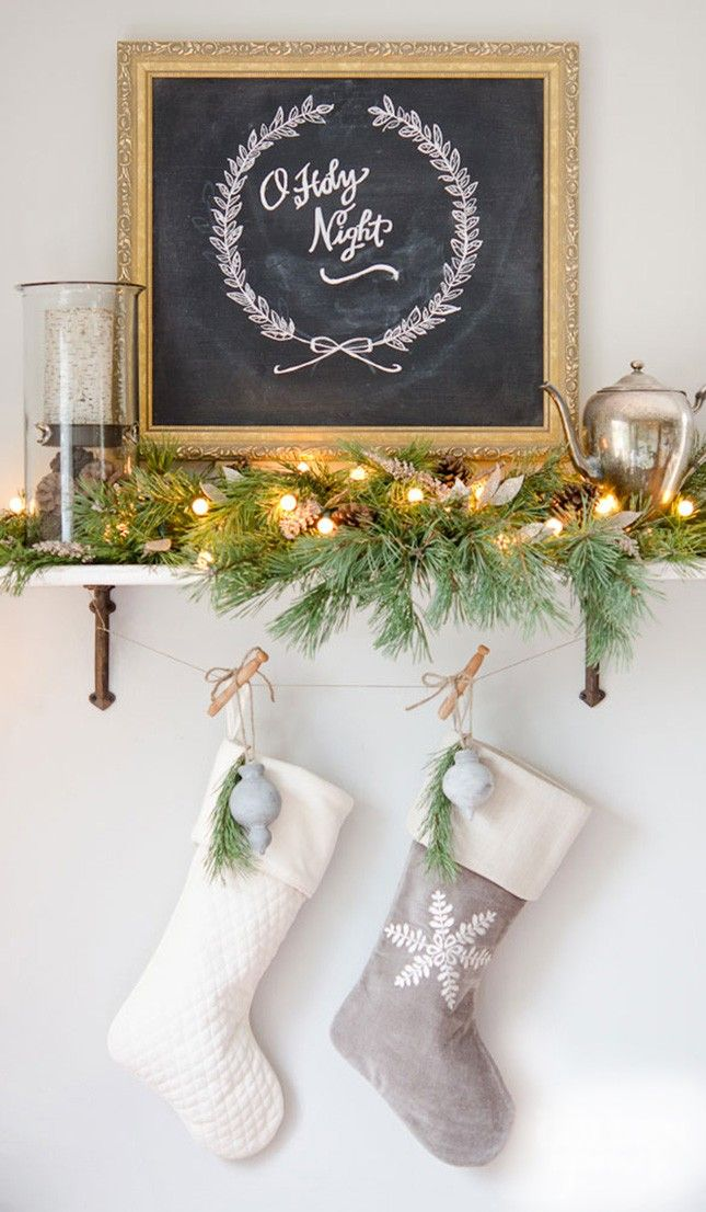 No Mantel? No problem. 10 ways to hang Christmas stockings without a mantel. #Holiday #Decor #Ideas