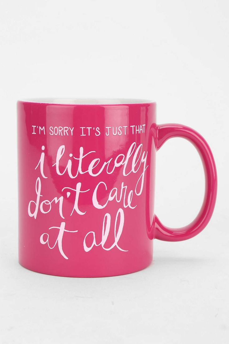 Literally Dont Care Mug - Urban Outfitters