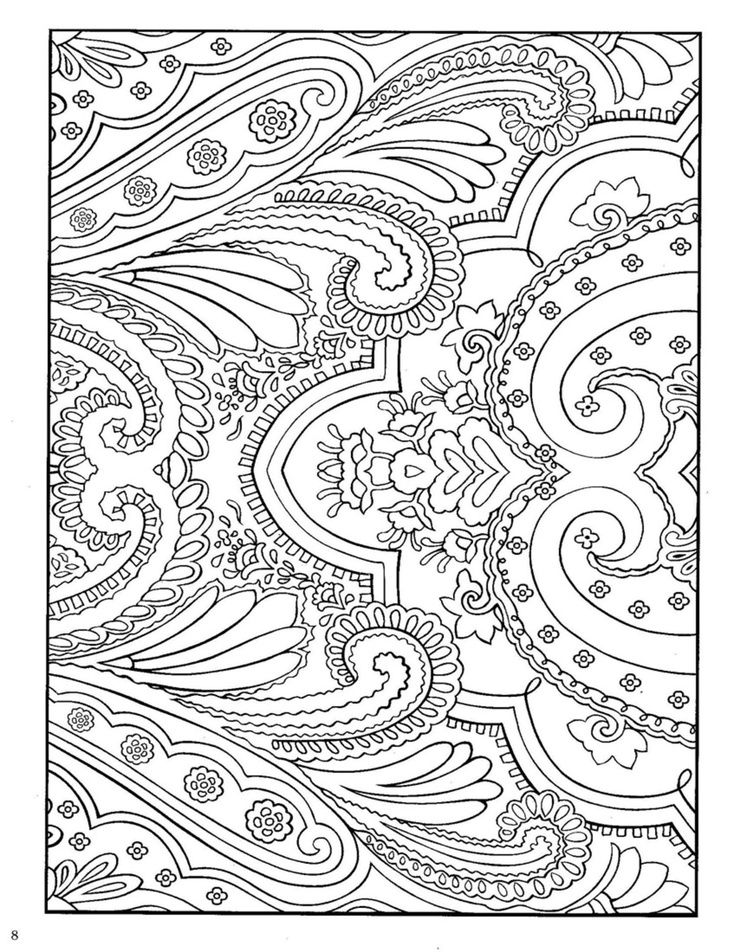 paisley design coloring pages animals via anja klarin olergard bored pinterest coloring
