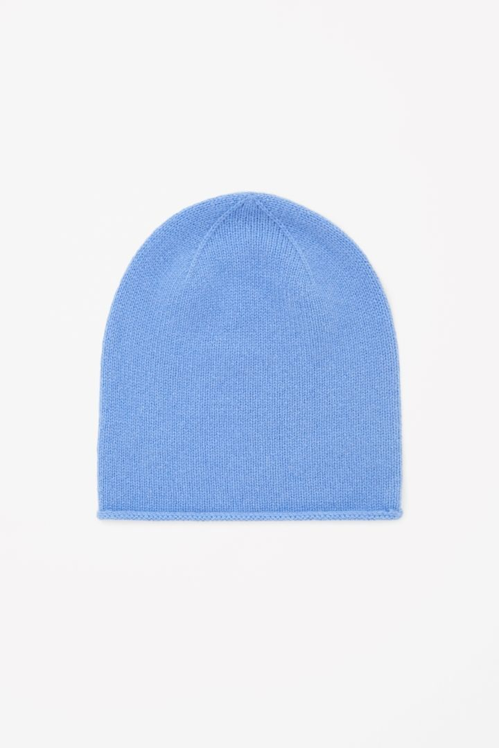COS Relaxed Cashmere Hat in Sky Blue, £29.