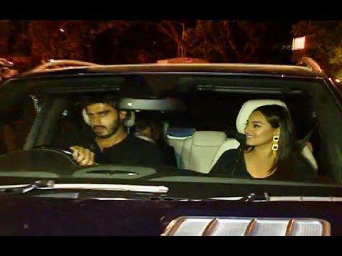 Sonakshi Sinha and Arjun Kapoor at Karan Johar's 42nd Birthday Party.