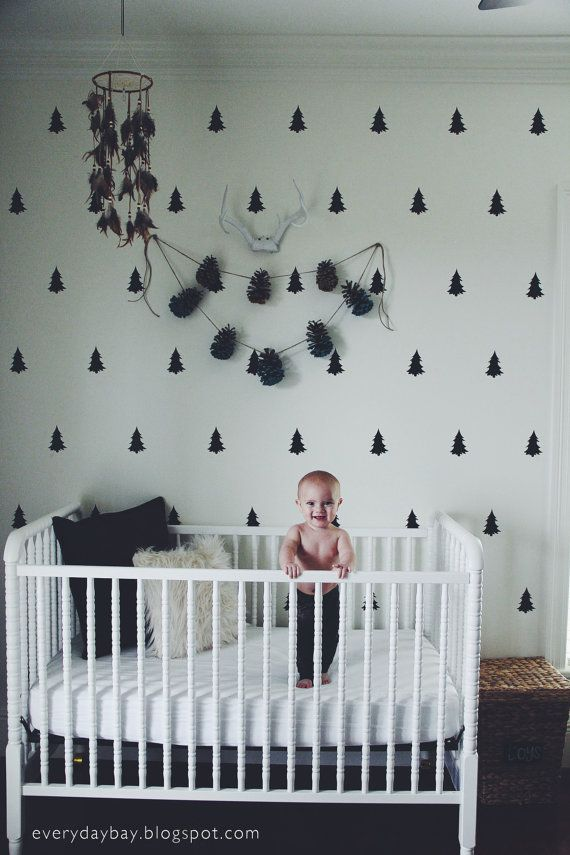 Vinyl Wall Sticker Decal Art - Pine Tree Pattern