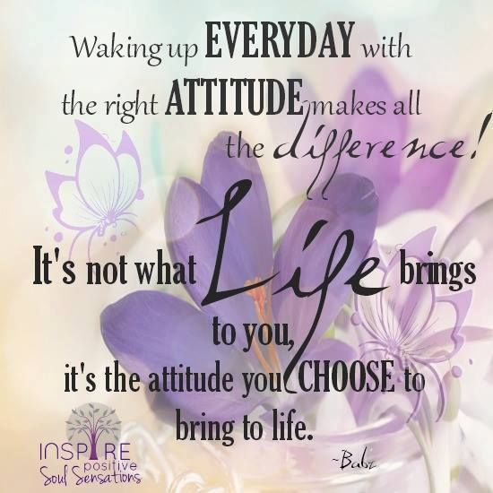 Waking Up With The Right Attitude Makes All The Difference morning good morning…