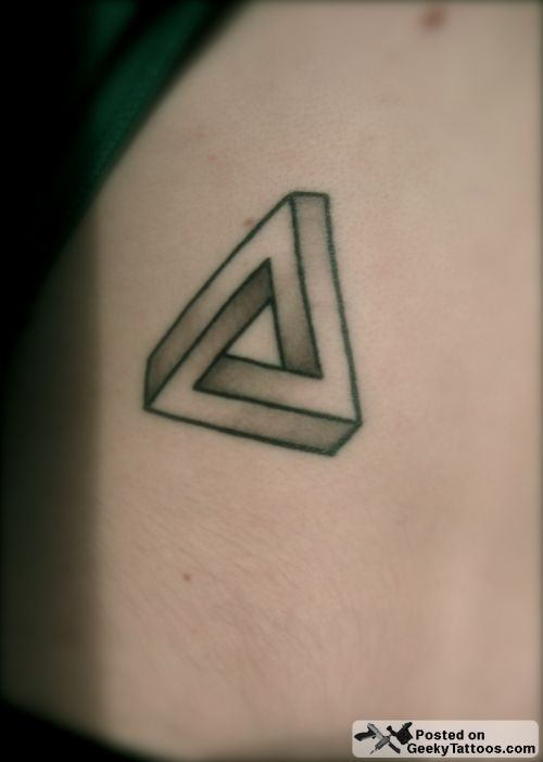 He Sent In His Simple, Yet Elegantly Geeky Tattoo Of A Penrose Triangle.  Itu0027s Truly An International Tattoo Because He Got It Done