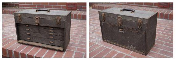 Vintage Kennedy Tool Box Antique Metal Tool by thevintageparadigm