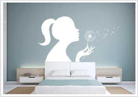 wandtattoo pusteblumen girl wand deko pinterest. Black Bedroom Furniture Sets. Home Design Ideas