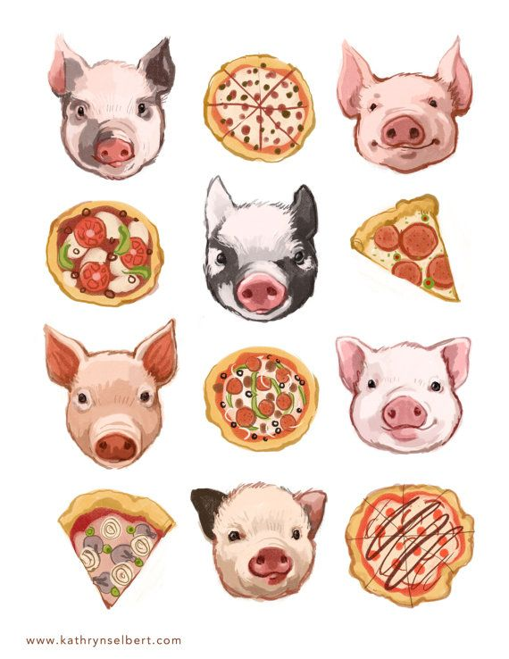 Pigs and Pizza by kathryn selbert,