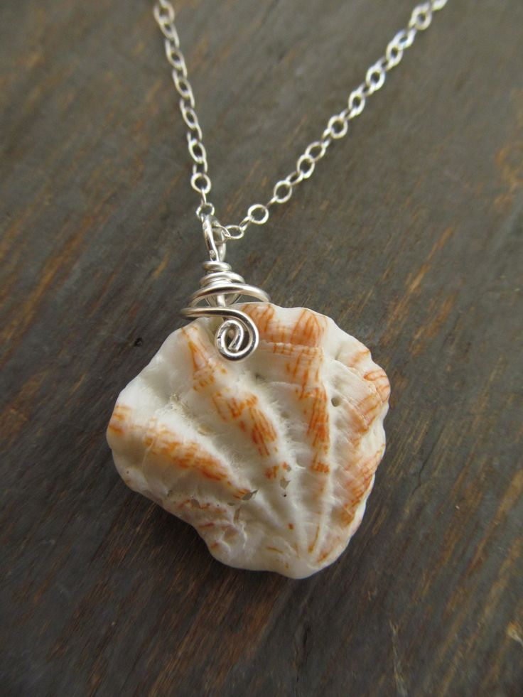 Minimalist Sea Shell Necklace - Sterling Silver - Beach Jewelry. $26.00, via Etsy.