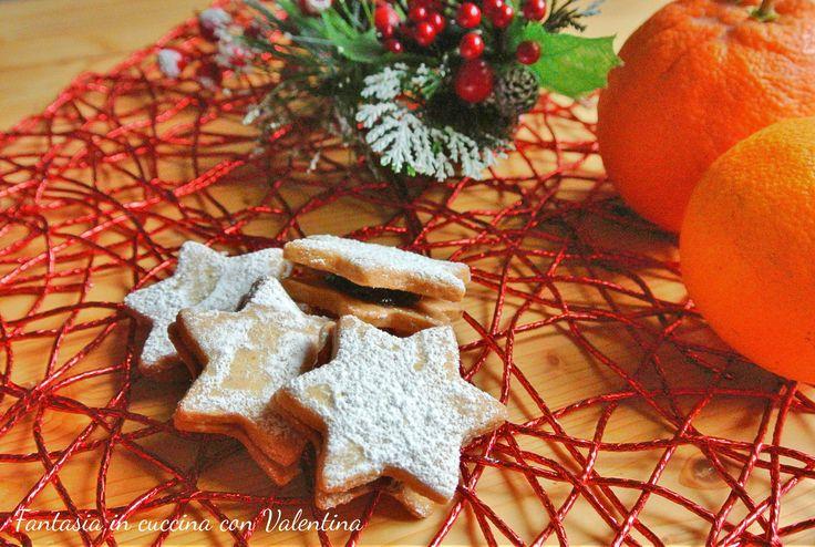 Biscotti+stella+con+marmellata
