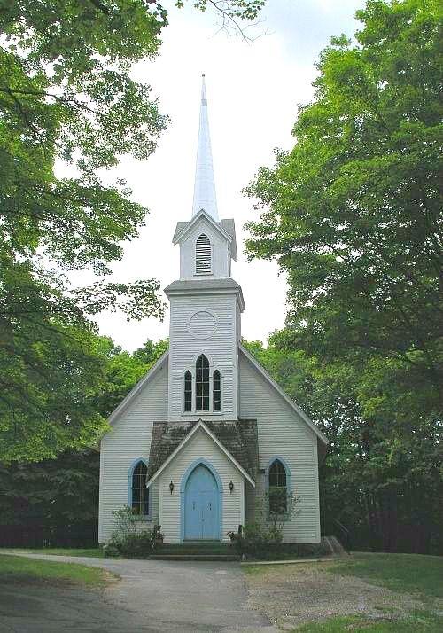 white country church