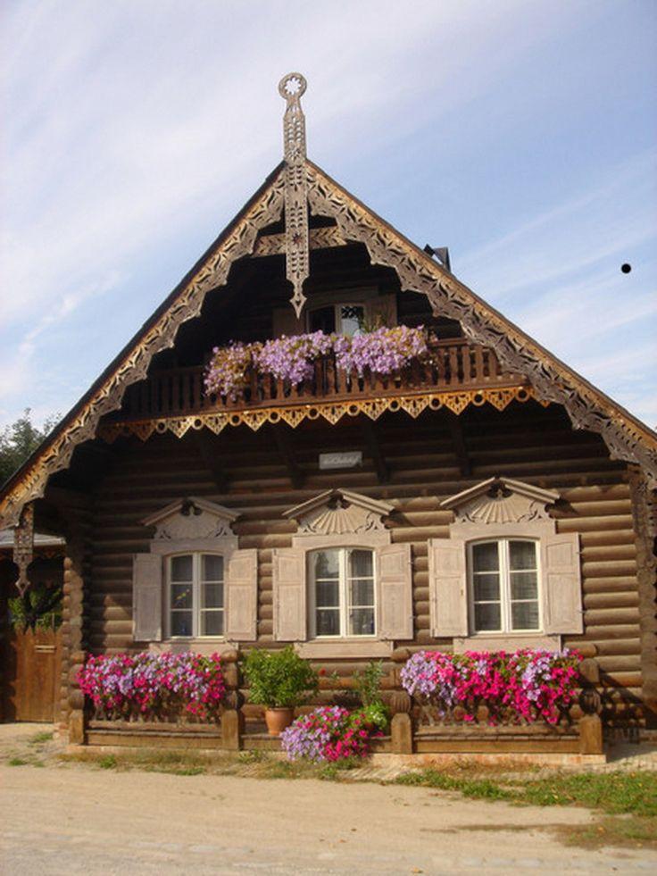 Красивый деревенский дом фото