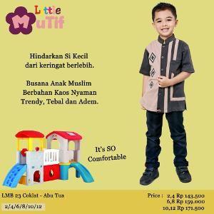 Baju Anak Little Mutif Boy - LMB 23 Abu Tua