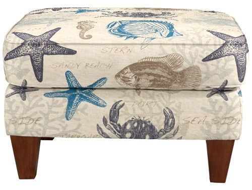 Sandy Beach Ottoman by La-Z-Boy: http://beachblissliving.com/upholstered-chairs-ottomans-la-z-boy/