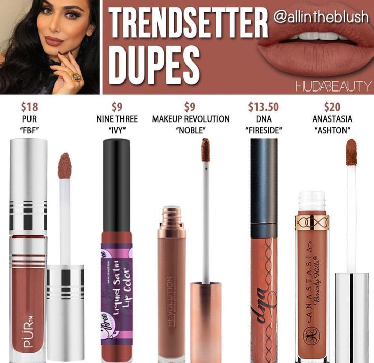 Huda beauty liquid lipstick dupes in the shade Trendsetter // Kayy Dubb ♡